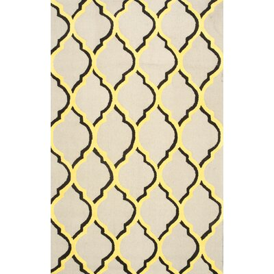 Shen Yellow Area Rug Rug Size: 5 x 8