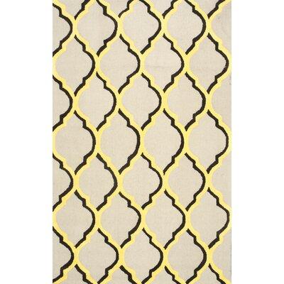 Shen Yellow Area Rug Rug Size: 76 x 96