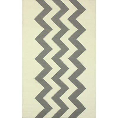 Flatweave Morgan Hand-Flat Woven Gray/Beige Area Rug Rug Size: Rectangle 5 x 8