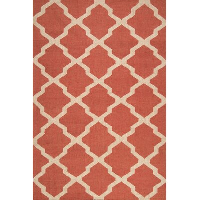 Loucelles Red Area Rug Rug Size: Rectangle 4 x 6