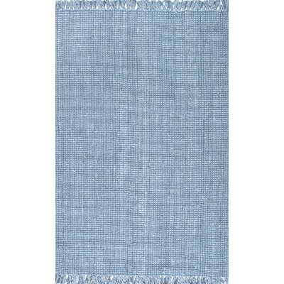 Windom Hand-Woven Blue Area Rug Rug Size: Rectangle 5 x 76