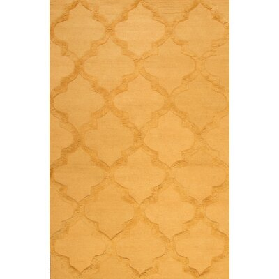 Koshney Hand-Tufted Gold Area Rug Rug Size: Rectangle 76 x 96