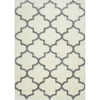 Zalacain Ivory Area Rug Rug Size: Rectangle 53 x 76