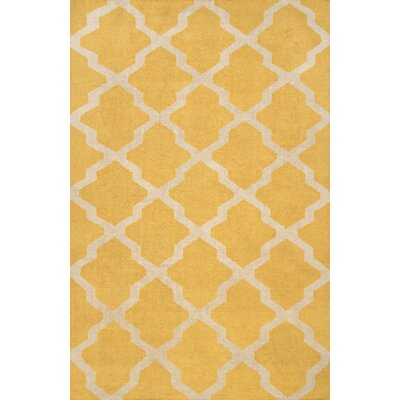 Loucelles Yellow Area Rug Rug Size: 76 x 96