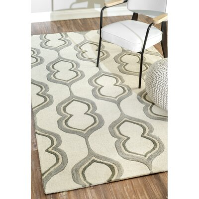 Guillemani Hand-Woven Wool Ivory Area Rug Rug Size: Rectangle 76 x 96