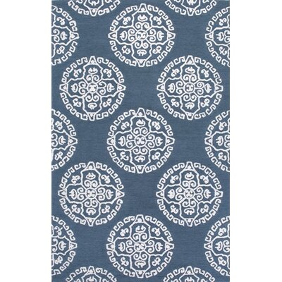 Uzbek Stpierre Blue Area Rug Rug Size: Rectangle 76 x 96