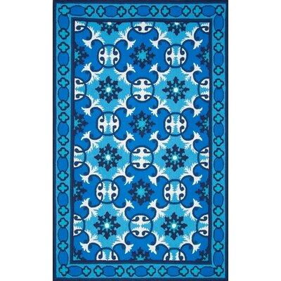 Uzbek Ledoux Blue Area Rug Rug Size: 5 x 8