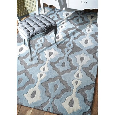 Todd Hand-Tufted Slate/Blue Area Rug Rug Size: Rectangle 5 x 8