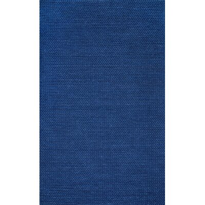 Chunky Hand-Woven Navy Area Rug Rug Size: Rectangle 6 x 9