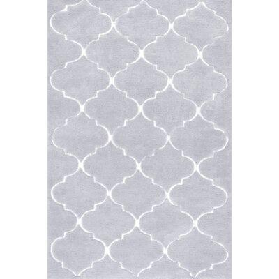 Cine Kathline Grey Shag Area Rug Rug Size: 76 x 96