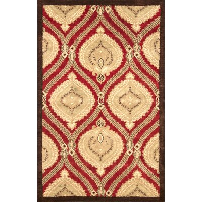 Gertrude Red Area Rug Rug Size: 86 x 116