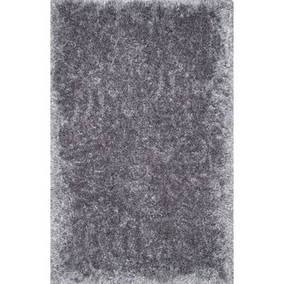 Kristan Hand-Tufted Gray Area Rug Rug Size: 76 x 96