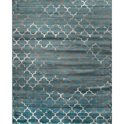 Velu Sonya Marine Trellis Area Rug Rug Size: 78 x 96