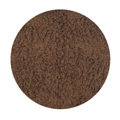 Flokati Chocolate Area Rug Rug Size: Round 8