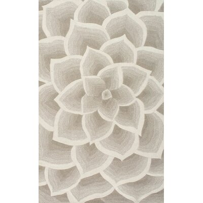 Bordeaux Hand-Woven Ivory Area Rug Rug Size: Rectangle 76 x 96