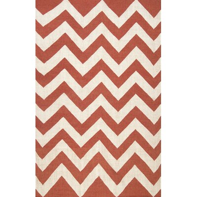 Diccon Red Area Rug Rug Size: 76 x 96