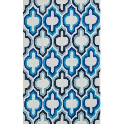 Karthus Blue Area Rug Rug Size: 5 x 8
