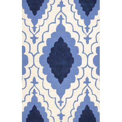 Bernat Blue Area Rug Rug Size: 5 x 8