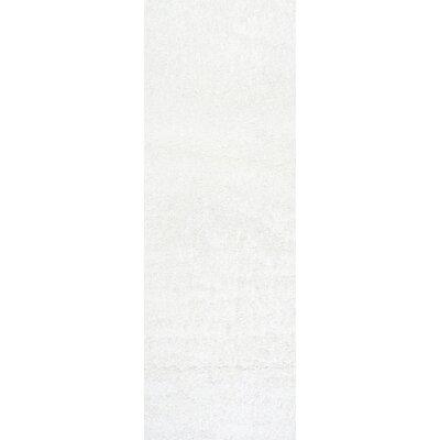 Serano Shag White Area Rug Rug Size: Runner 2'8