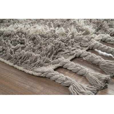 Longmeadow Hand-Knotted Gray Area Rug Rug Size: Rectangle 10 x 14