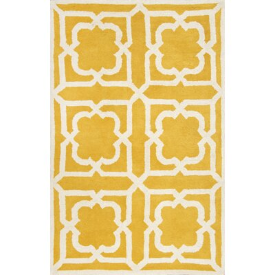 Occhena Gold Area Rug Rug Size: 5 x 8