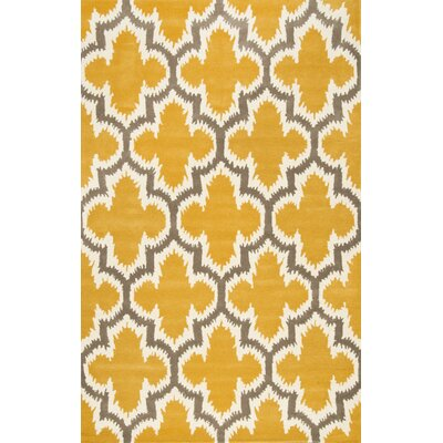 Eichmann Hand-Tufted Wool Yellow Area Rug Rug Size: Rectangle 76 x 96