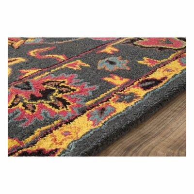 Dennie Orange Area Rug Rug Size: 86 x 11 6