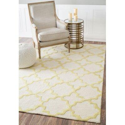 Moderna Sunshine Zoe Trellis Hand Tufted Wool Yellow/Gray Area Rug Rug Size: Rectangle 83 x 11