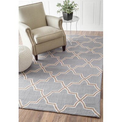 Cine Hand-Hooked Wool State/Brown Area Rug Rug Size: Rectangle 6 x 9