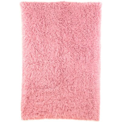 Flokati Rose Dusky Area Rug Rug Size: Rectangle 5 x 7