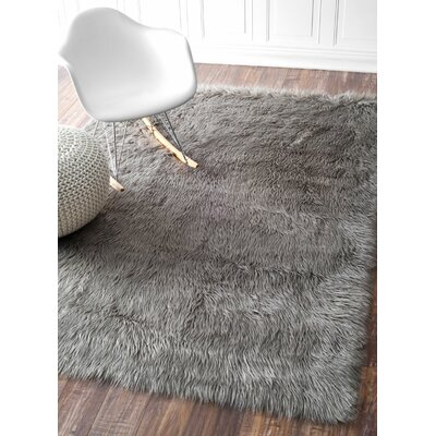 Empire Gray Area Rug Rug Size: Round 5