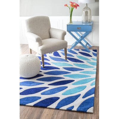 Cine Owen Hand-Tufted Blue Area Rug Rug Size: Rectangle 5 x 8