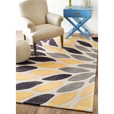 Cine Owen Hand-Tufted Black/Yellow Area Rug Rug Size: Rectangle 4 x 6