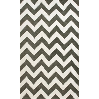 Marrakesh Meridian Chevron Black Area Rug Rug Size: 6 x 9