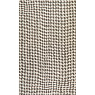 Natura Houndstooth Brown Area Rug Rug Size: 5 x 8