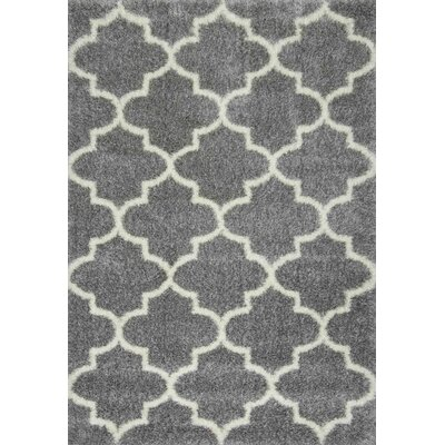Zalacain Gray Area Rug Rug Size: Rectangle 67 x 9