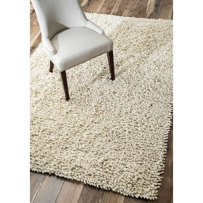 Holt Hand-Tufted Ivory Area Rug Rug Size: Rectangle 8 x 10