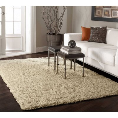 Beige Area Rug Rug Size: Rectangle 53 x 76