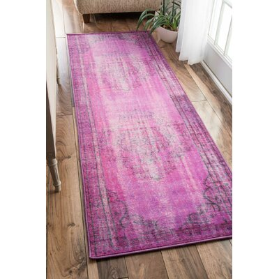Remade Overdyed Violet Area Rug Rug Size: Rectangle 82 x 911