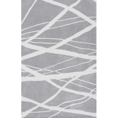 Cine Calypso Hand-Tufted Gray Area Rug Rug Size: Rectangle 76 x 96