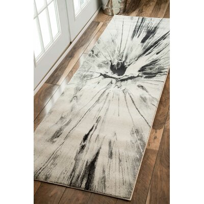 Susan Gray Area Rug Rug Size: Rectangle 9 x 12