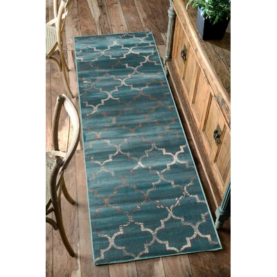 Velu Sonya Marine Trellis Area Rug Rug Size: Rectangle 78 x 96
