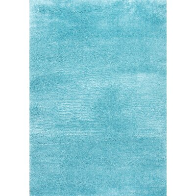 Baby Blue Area Rug Rug Size: 5'3