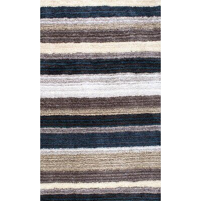Cine Hand-Tufted Blue/Brown Area Rug Rug Size: 7 x 9