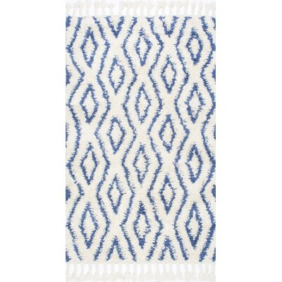 Reid Hand-Woven Soukey Area Rug Rug Size: 76 x 96