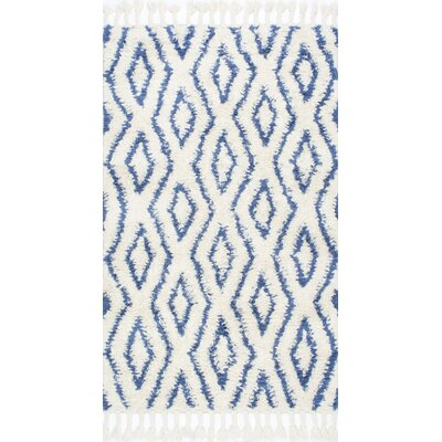 Reid Hand-Woven Soukey Area Rug Rug Size: 5 x 8