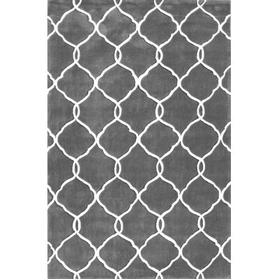 Cine Linked Moroccan Trellis Slate Area Rug Rug Size: Rectangle 6 x 9