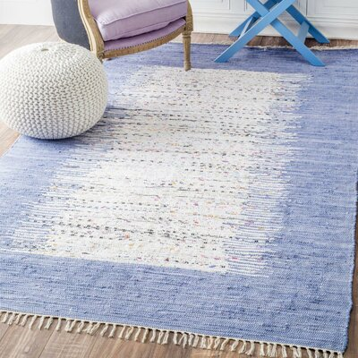 Bradia Blue/Beige Area Rug Rug Size: Rectangle 5 x 8