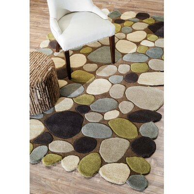 Keshawn Hand-Tufted Brown/Ivory Area Rug Rug Size: Rectangle 2 x 3