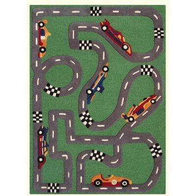 nuLOOM Kinder Race Track Kids Rug